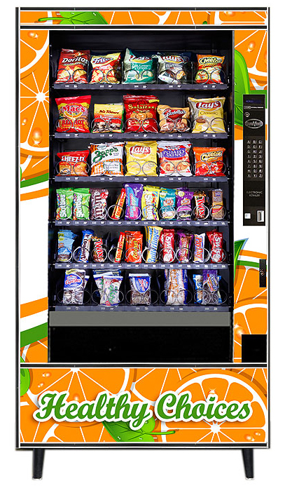 Healthy, natural snacks and baked chips for vending machines
