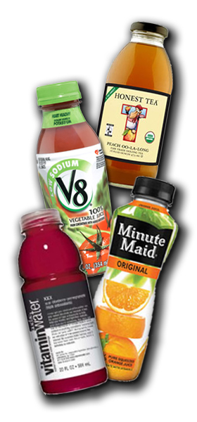 Juice and tea vending machine products