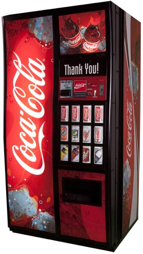 Coke vending machine products