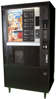 Coffee and tea brewing vending machines